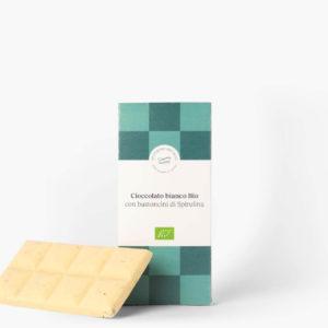 Cioccolato Bianco Bio Severino Becagli con Bastoncini di Spirulina