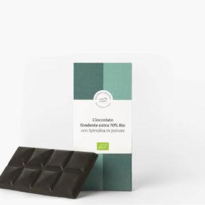 Cioccolato Fondente Extra 70% Bio Severino Becagli con Spirulina in polvere